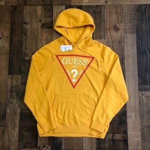 New Guess USA Logo Pullover Hoodie